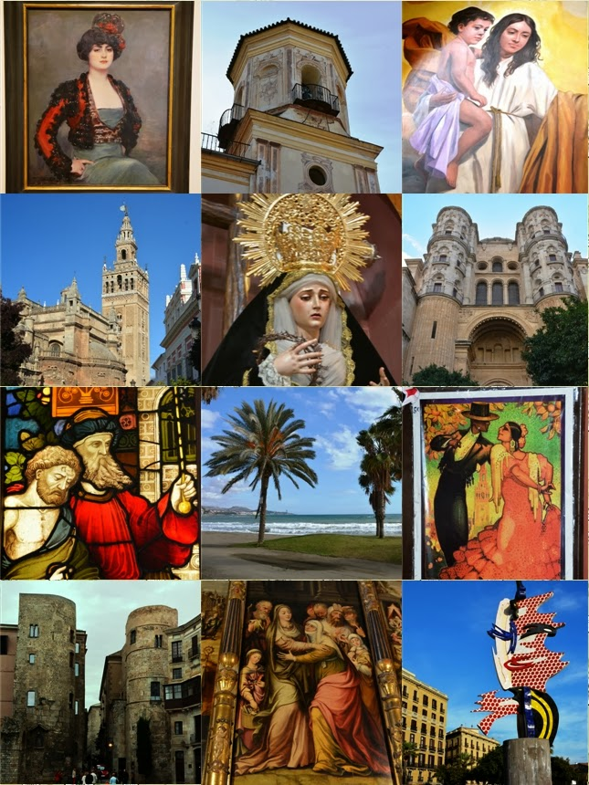 Collage Malaga, Sevilla, Barcelona Spain