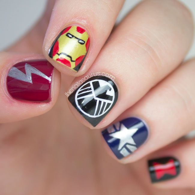 Legion Fandom: Avengers Nail Art  The Nailasaurus  UK Nail Art Blog