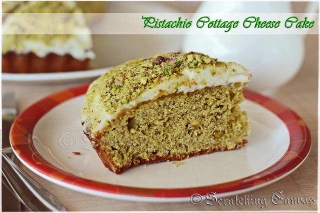 Pistachio & Cottage Cheese Cake: No Butter, No Oil, Healthy Baking