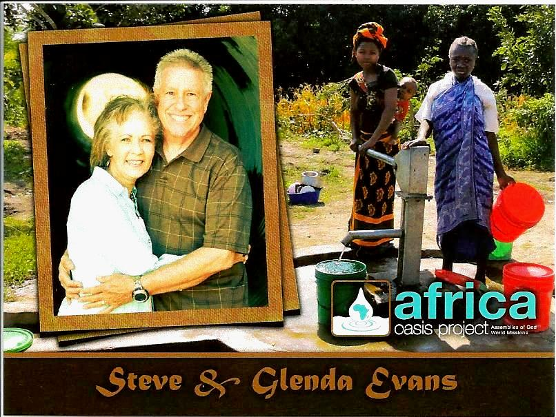 Steve and Glenda Evans ...with the Africa Oasis Project
