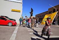 Dineh Walkers Storm Gallup, NM Exposing Desecration of Land by Energy Companies