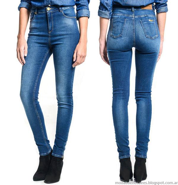 Moda otoño invierno 2015 jeans de mujer.
