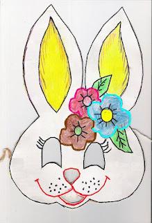 Máscara de coelha -símbolo da páscoa