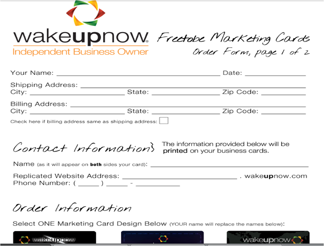 My wake up now and then click on freetobe marketing card form colourmoves