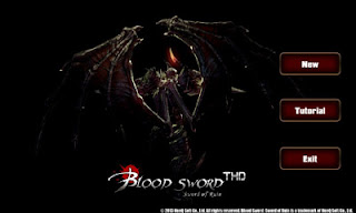 Screenshots of the Blood Sword THD for Android tablet, phone.