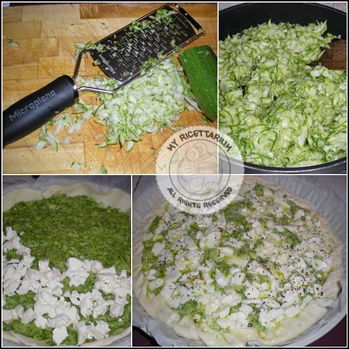 Torta rustica con zucchine e mozzarella