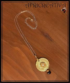 Ciondolo per collana oro con bottone gioiello