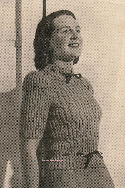 The Vintage Pattern Files - Free 1940's Knitting Pattern - Love at First Sight Sweater