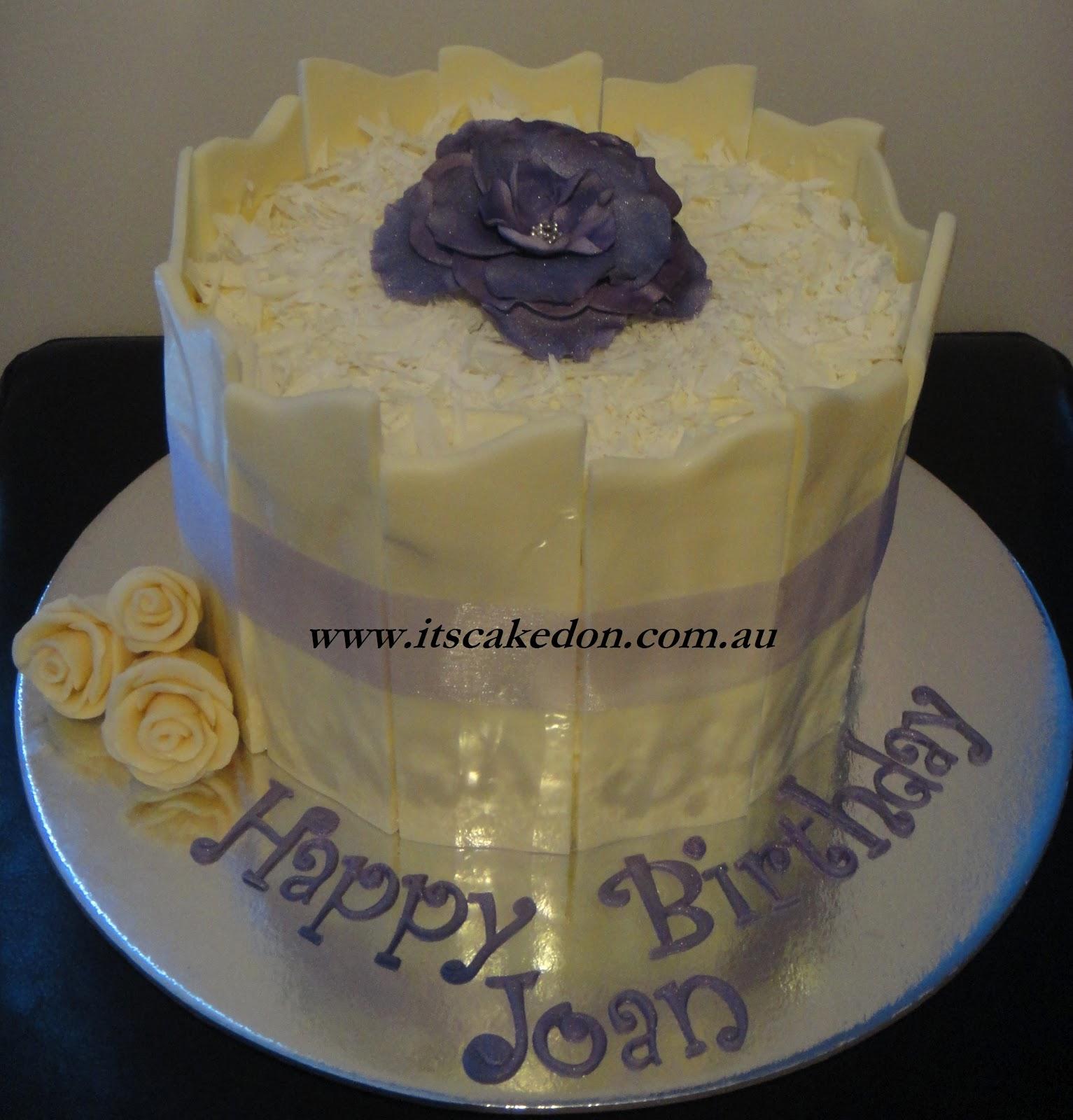 Its Caked On Joans White Chocolate Shard Cake