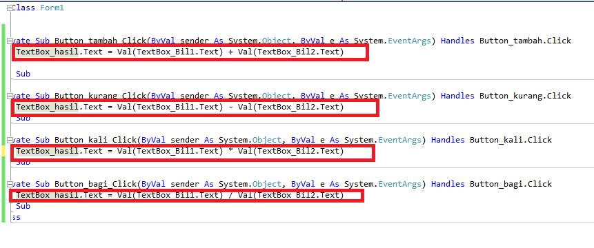 code program aritmatika dasar