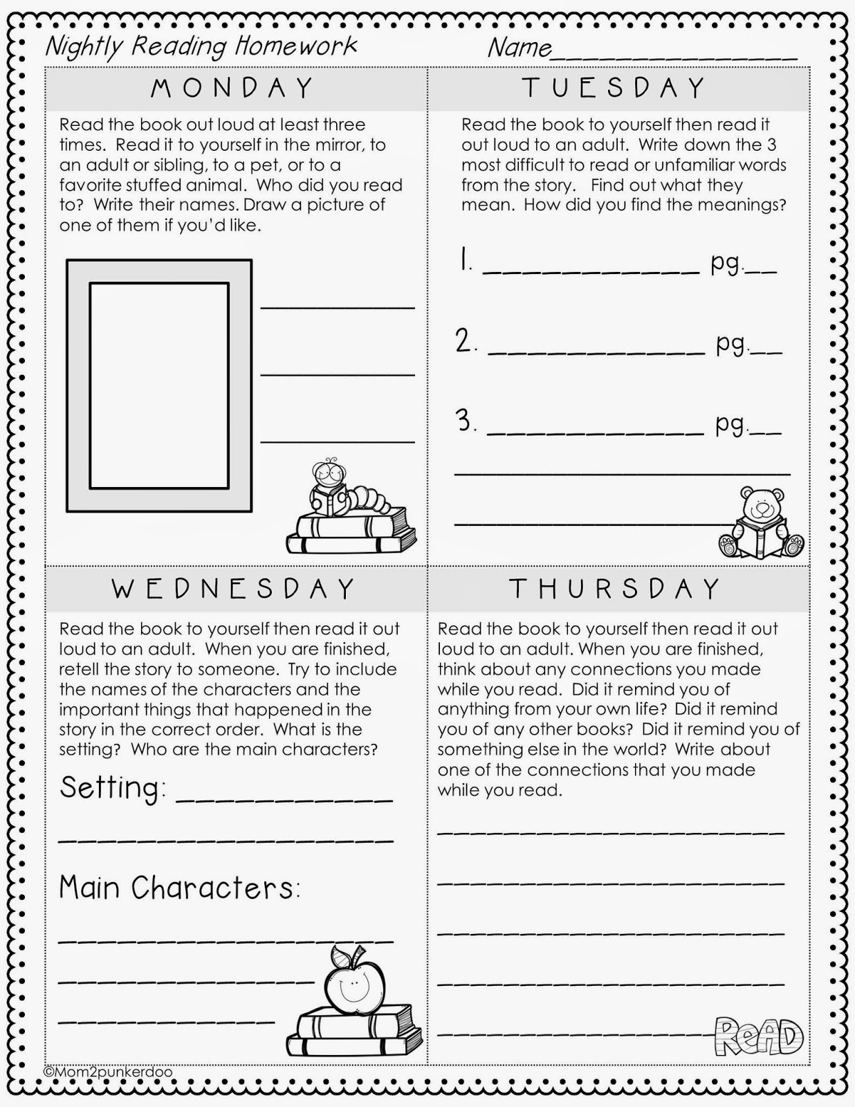 close reading freebie for emerging readers