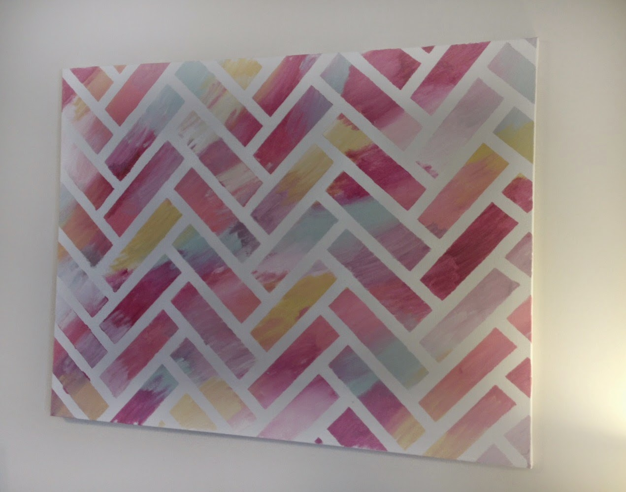 Reverse Herringbone Painting Tutorial The Striped House - Tape painting