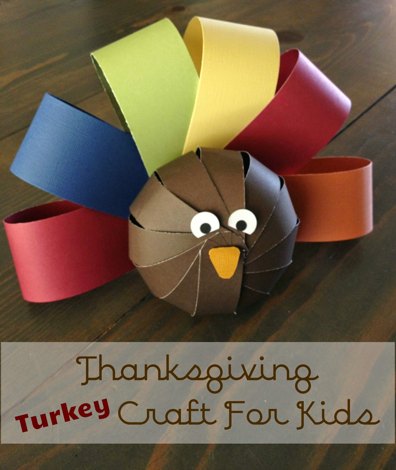 Be brave keep going cute paper turkey craft for kids for Cute paper crafts