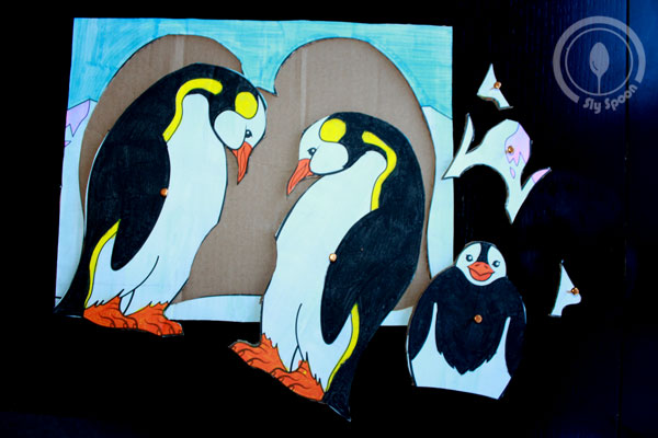 Cardboard Creations - How to Make Any Picture Into a Cardboard Puzzle, penguin puzzle