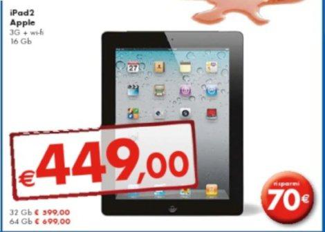 Volantino panorama prezzo iPad 2 scontato di 70 euro