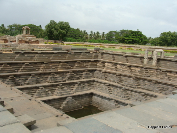 Stepped Tank - Public Path Hampi