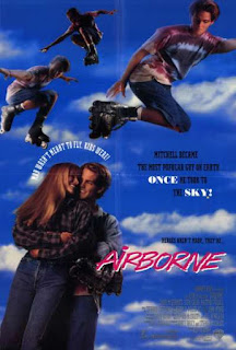 Airborne rollerblading movie poster