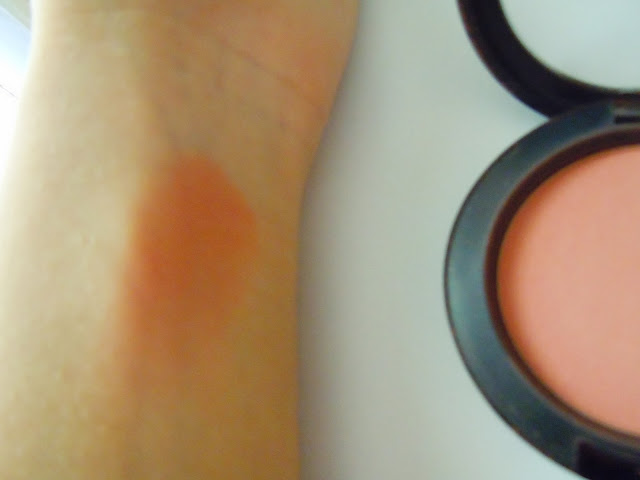 mac melba blush swatches