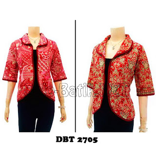 DBT2705 Model Baju Blouse Batik Modern Terbaru 2013