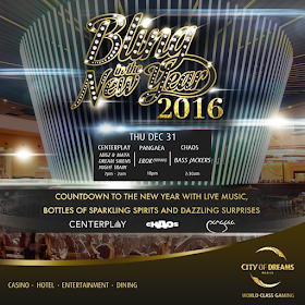 Bling in the New Year 2016 at City of Dreams Manila