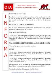 C.T.A. INFORMA, LO REALIZADO EN ENERO DE 2020