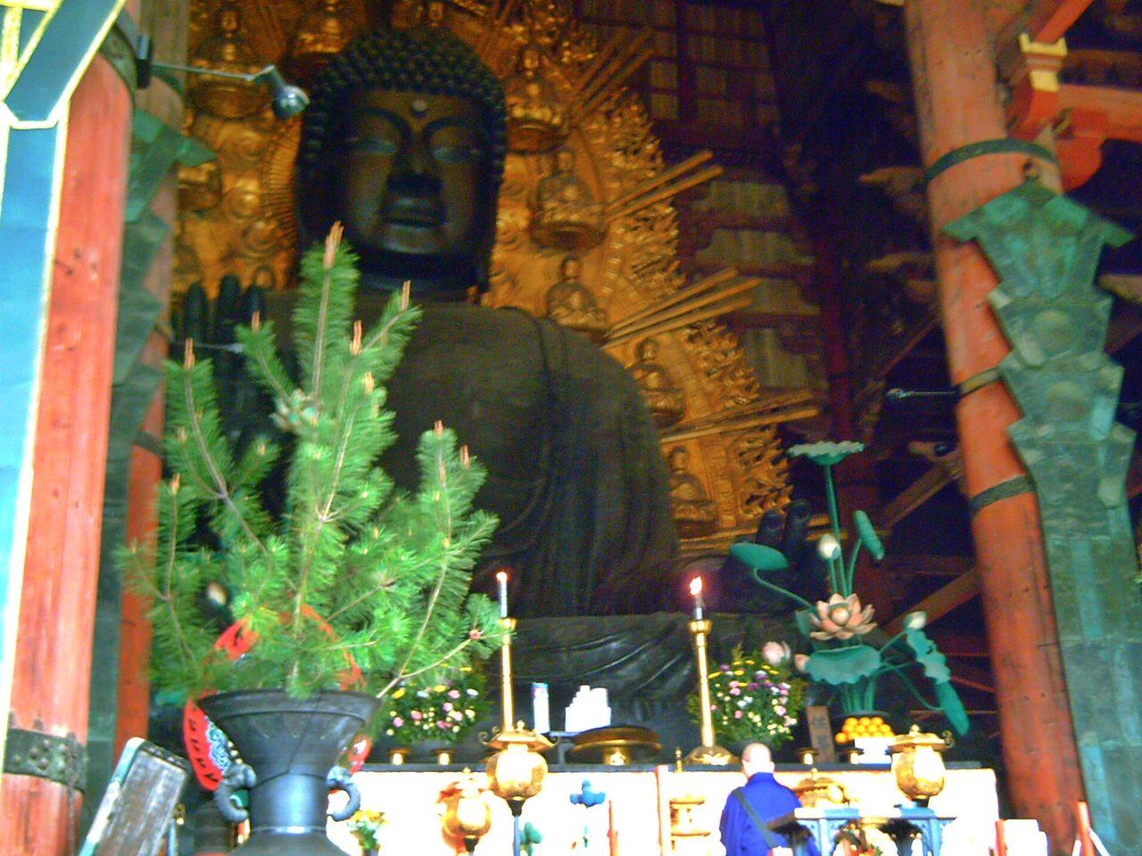 Templo Todaiji en Nara Japon. Gran buda