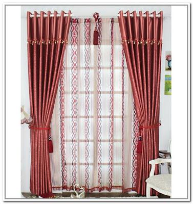 Dise o de interiores casas cortinas de color borgo a - Cortinas hechas en casa ...