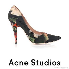 Crown Princess Victoria Style ACNE STUDIOS Floral Nova Print Shoes
