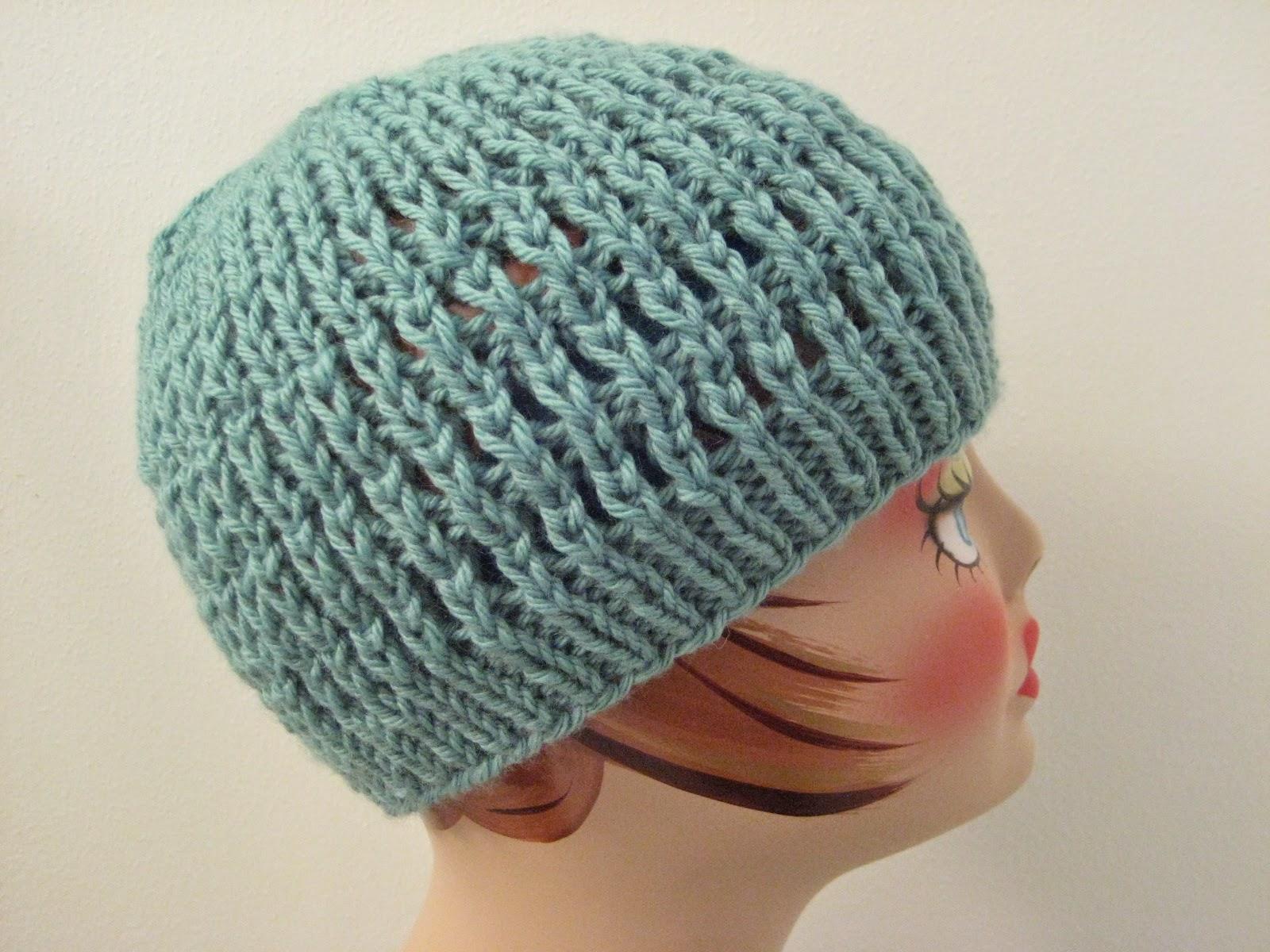 Balls to the Walls Knits: Slip-Stitch Mesh Hat
