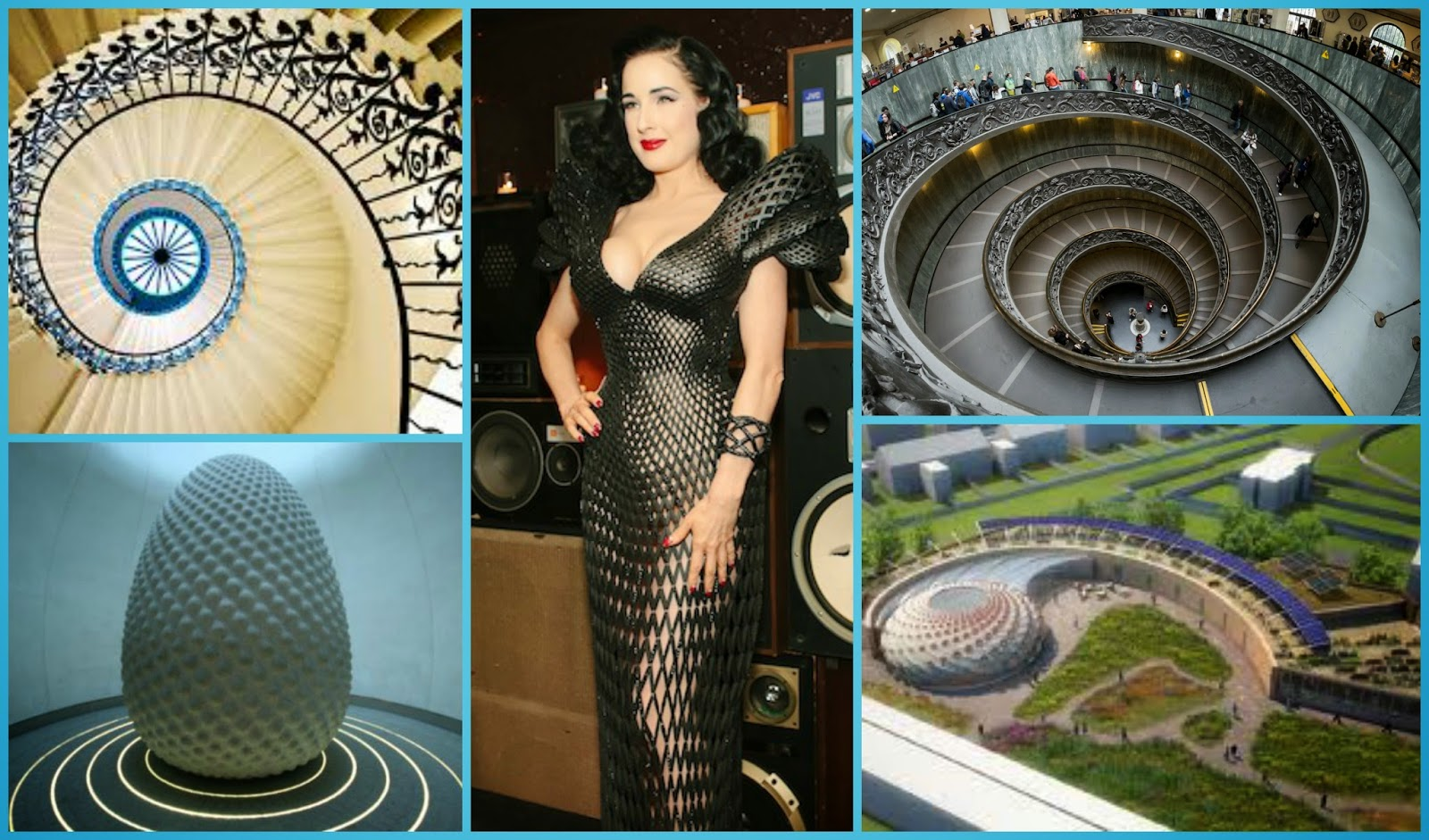 Interior decoration, architecture, even a 3D printed gown created using Fibonacci  sequence.