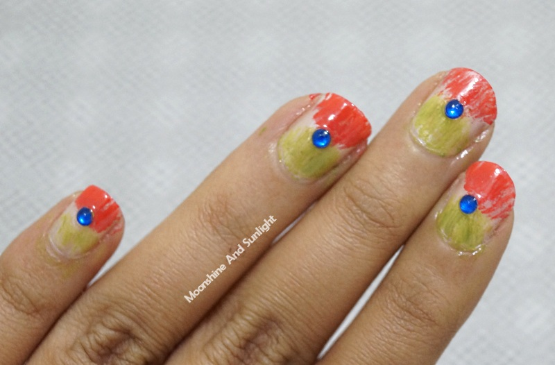 Republic day nail art tutorial easy nail art moonshine and this is a super simple nail art and you can definitely try this at home without any tools prinsesfo Images