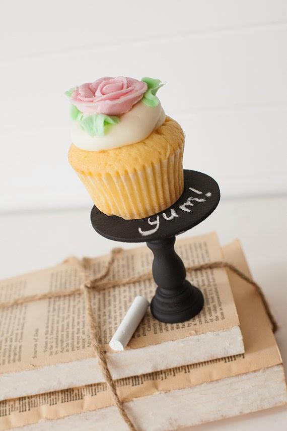 Mini Wooden Cupcake Stands - Chalkboard