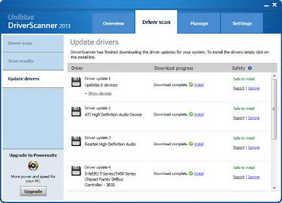 Uniblue DriverScanner 2013 Screenshot