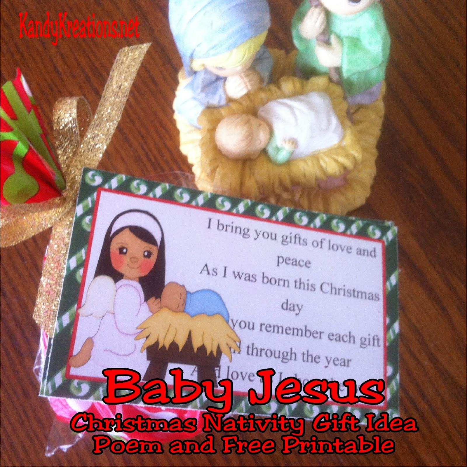 The twelve days of Christmas have come to a close with this last gift in our Nativity advent gift idea for neighbors, friends, and family. Day twelve is a gift of the Baby Jesus and some yummy chocolate presents.