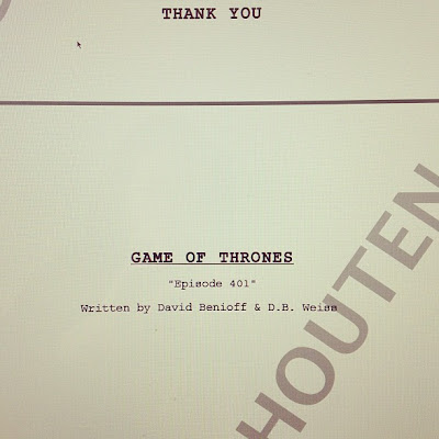 guión episodio 1 cuarta temporada juego de tronos - Juego de Tronos en los siete reinos