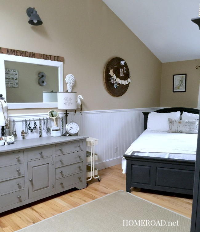 Master bedroom painted furniture reveal homeroad for How to paint my bedroom furniture
