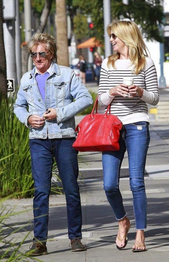 Well, these new photos are no different than usually. . . . . . . . . . .expect that Rod Stewart will be celebrated his 70th Birthday by royally.  But his totally lifespan has been talking to much about dignity as the singer spent the moment in just simply with the wife, Penny Lancaster at customary restaurant in Beverly Hills, USA on Saturday, January 10, 2015.