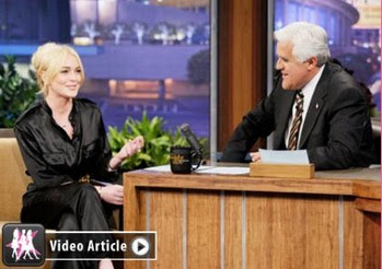 lindsay lohan tonight show with jay leno 25 april 2011