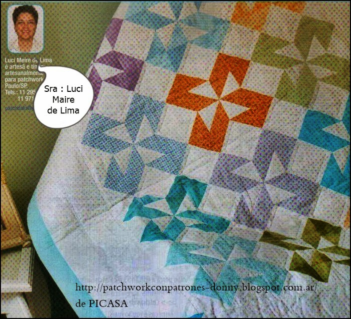 Patchwork solo patrones todo gratis - Hacer una colcha de patchwork ...