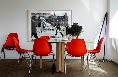 framed art leather look modern