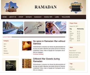 Ramadan Responsive Blogger Template