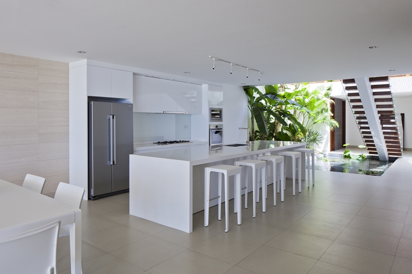Minimalist bright kitchen