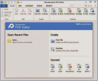 Wondershare PDF Editor lets you not only edit PDF files quickly and easily, but also convert them to Word, PowerPoint, Excel and EPUB files