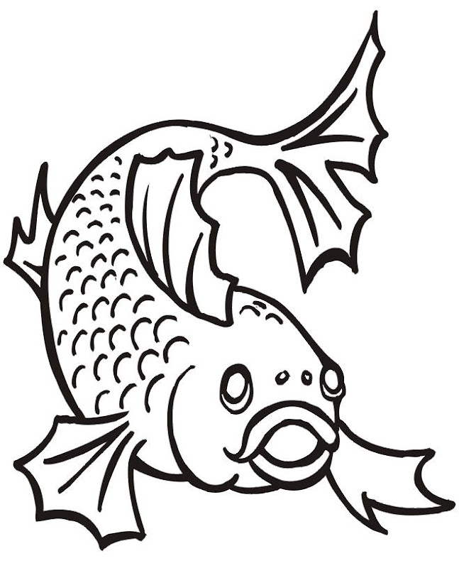 cartoon fish coloring pages title=