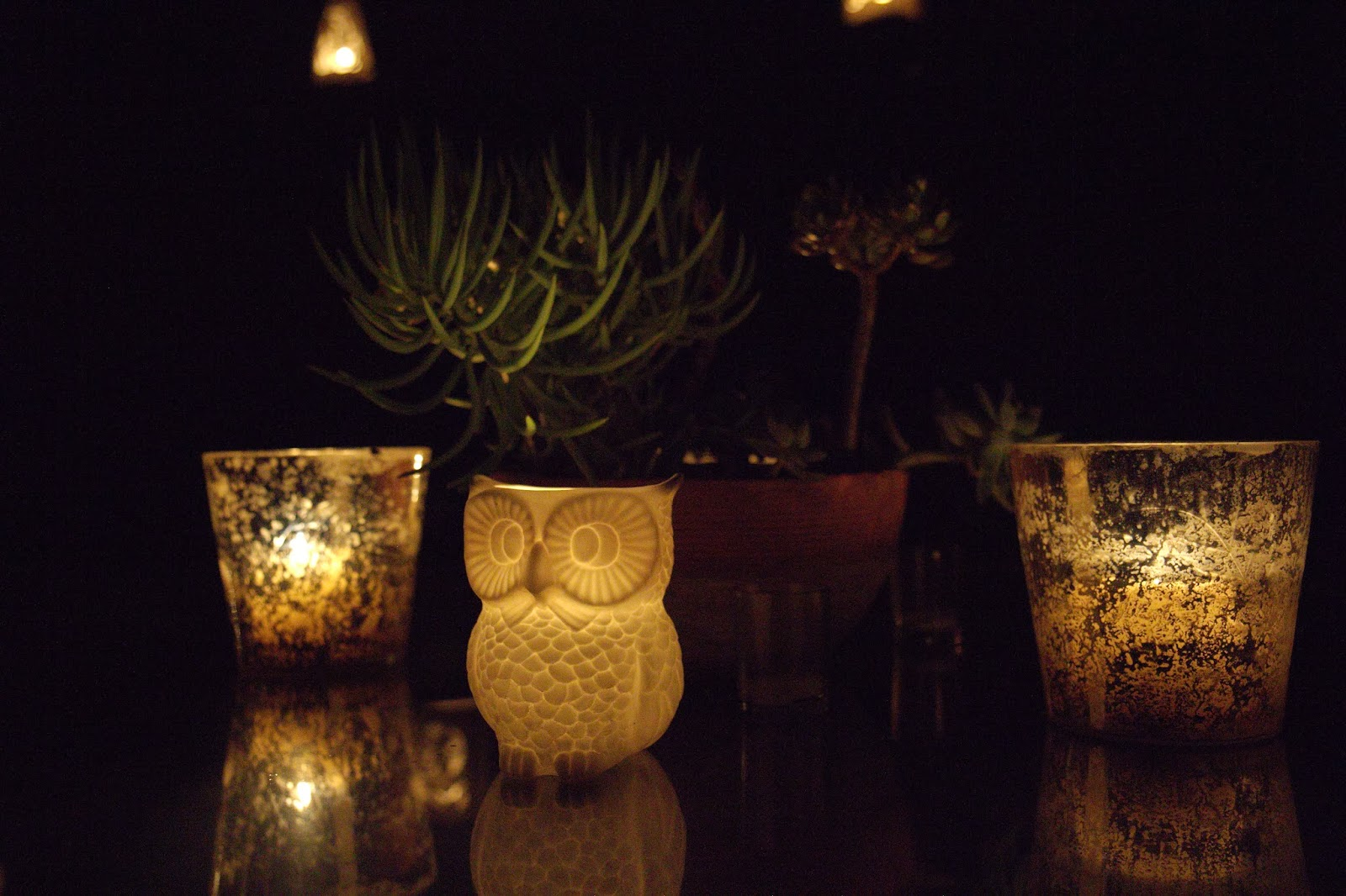 Owl Votive - Spooky Glam Halloween Party