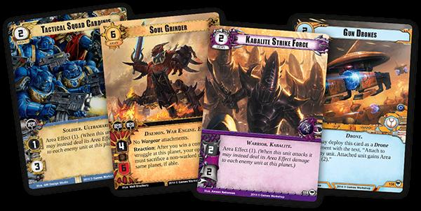 Warhammer 40,000 40k conquest cards