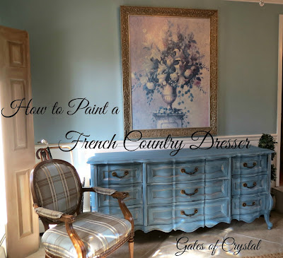 french dresser makeover tutorial