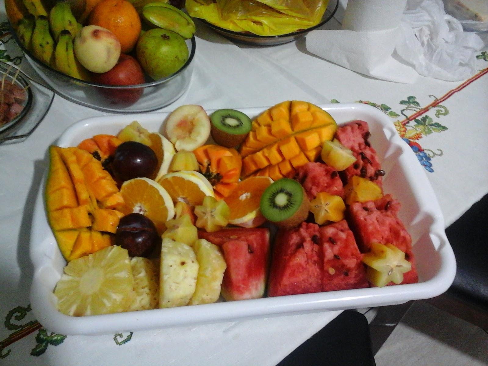 Mesa de Frutas para o ano novo Comidas Caseiras -> Decoraçao Com Frutas Para Ano Novo