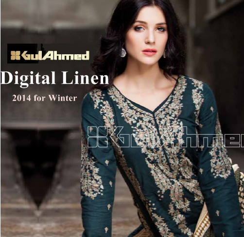 Gul Ahmed Linen Winter Collection 2014