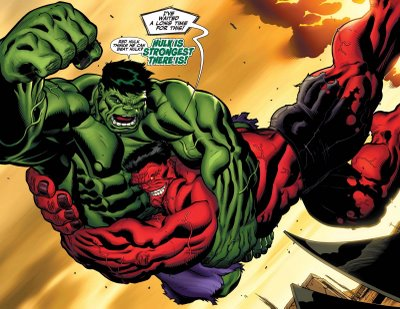 Red Hulk Vs Green Hulk Vs Gray Hulk Hulk